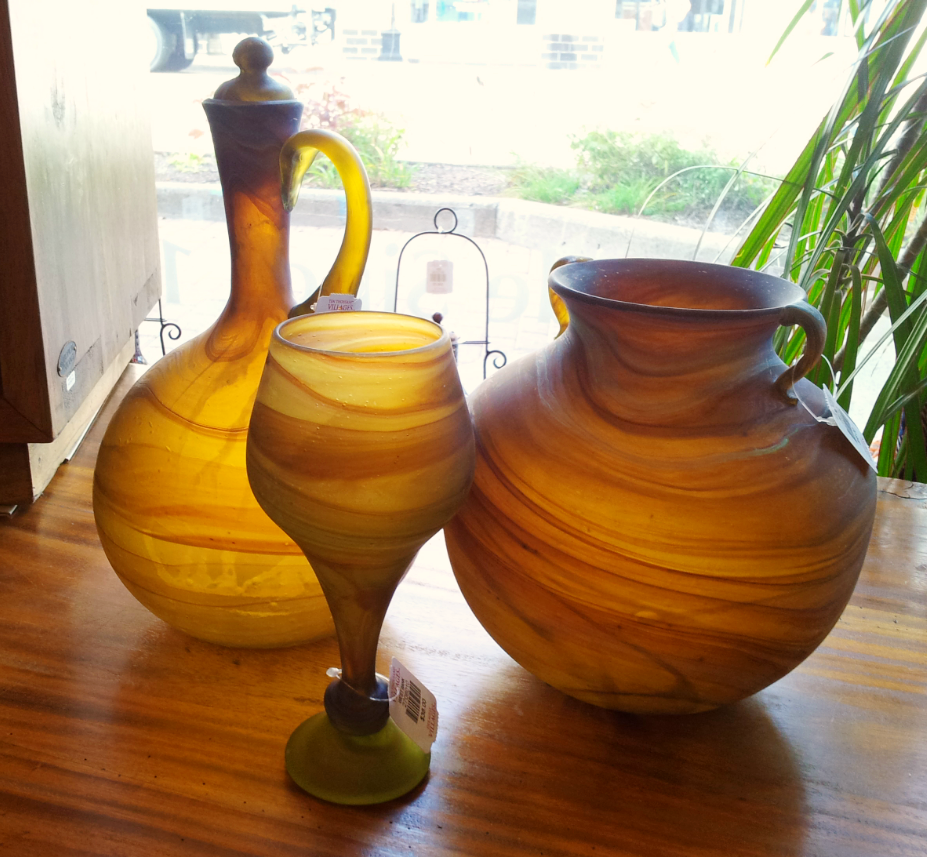 Gorgeous blown glass products from West Bank.