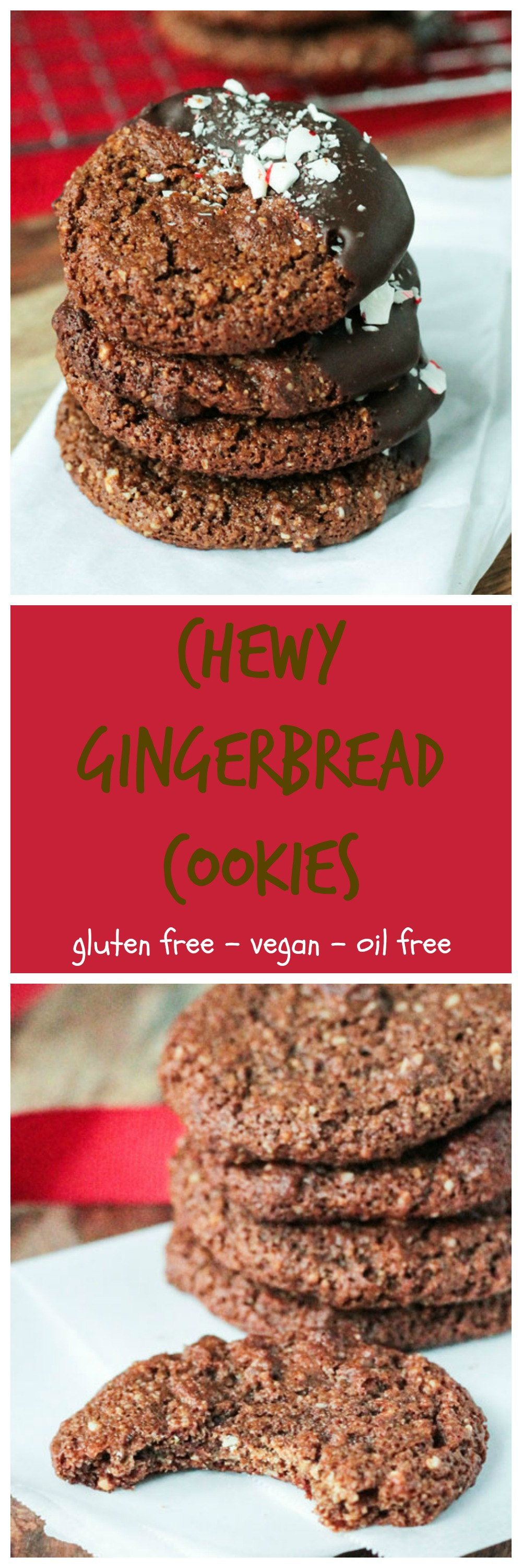 Chewy Gluten Free Gingerbread Cookies - crispy on the outside, perfectly chewy on the inside, loaded with flavor and totally good for you! These cookies will be a holiday staple for years to come!