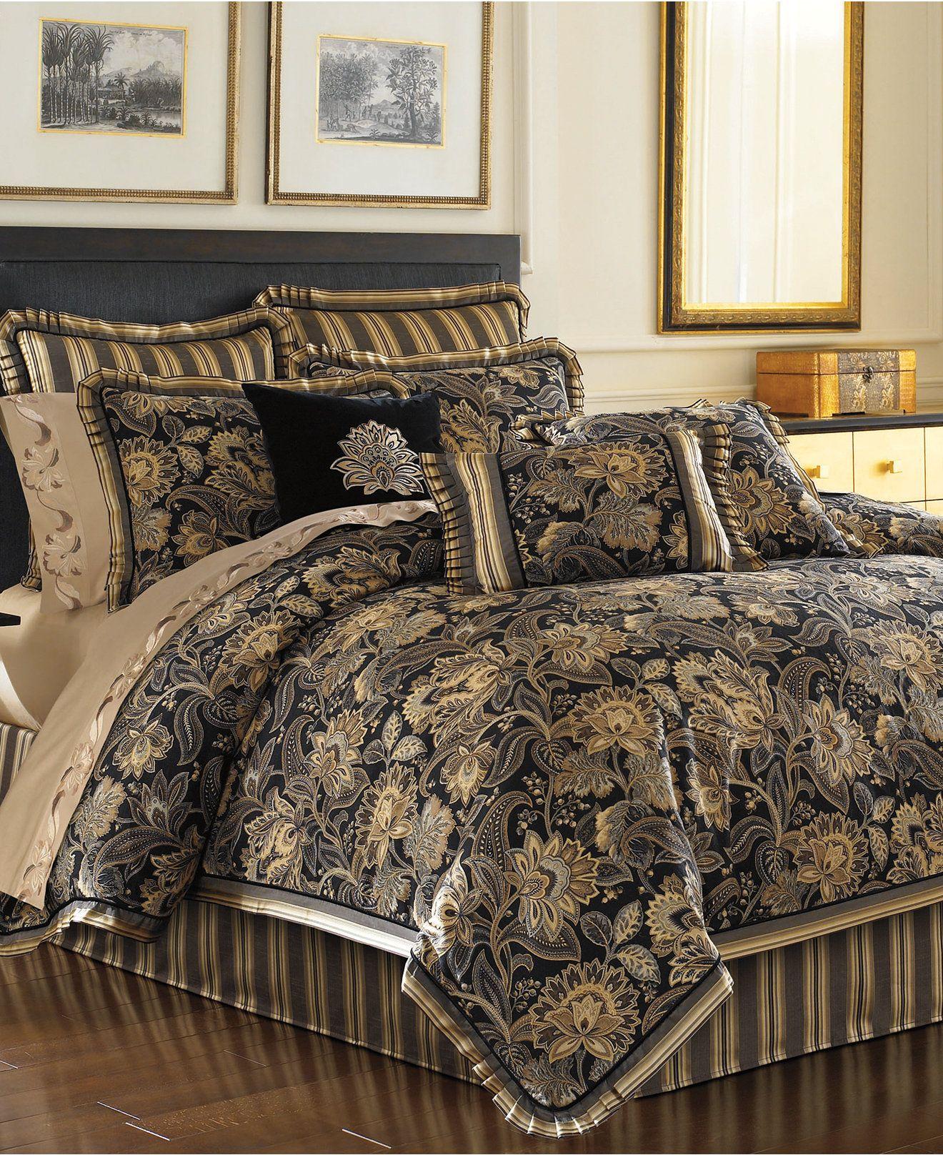 Black and gold queen comforter set - J Queen New York Alicante Comforter Sets Bedding Collections Bed Bath Macy S