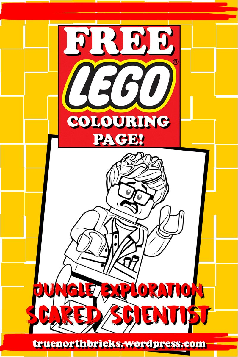 LEGO Colouring Page: Scared Scientist
