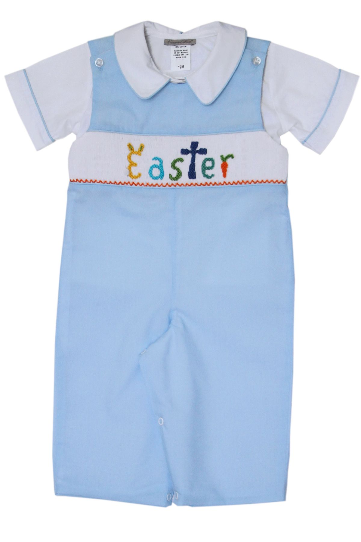 3c982b848d09 Boys Hand Smocked Easter Bunny Longall and Shirt | Baby Boy Clothing ...