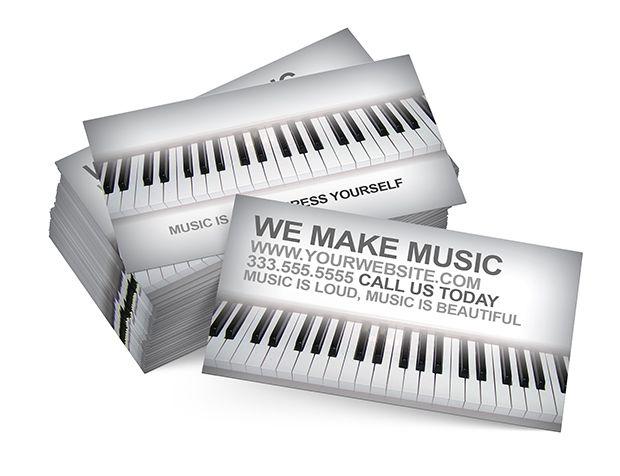 Music School 2 Business Card Psd Music School And Psd Templates