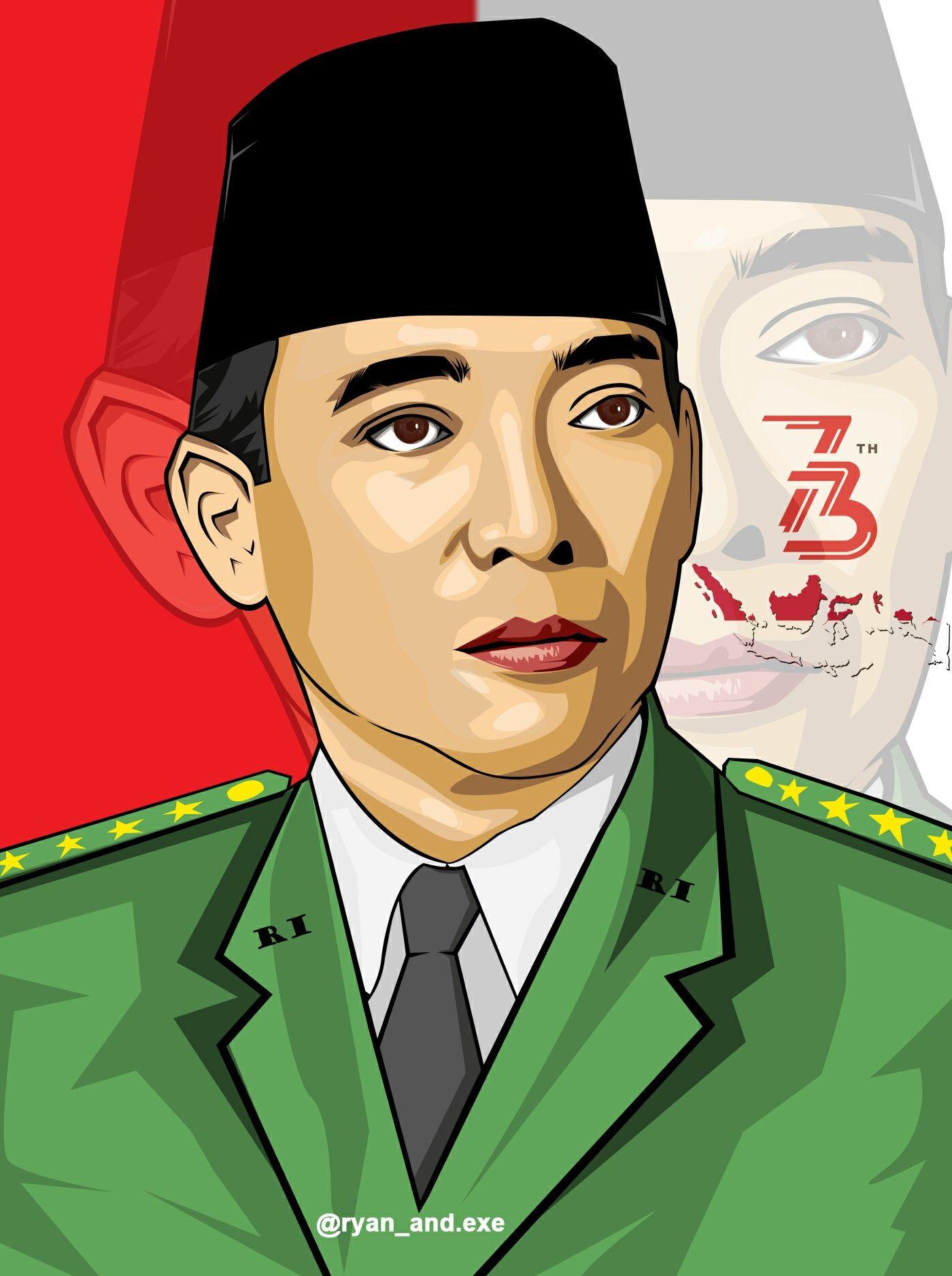 Vector Ir Soekarno Desain Logo Gambar Ilustrasi