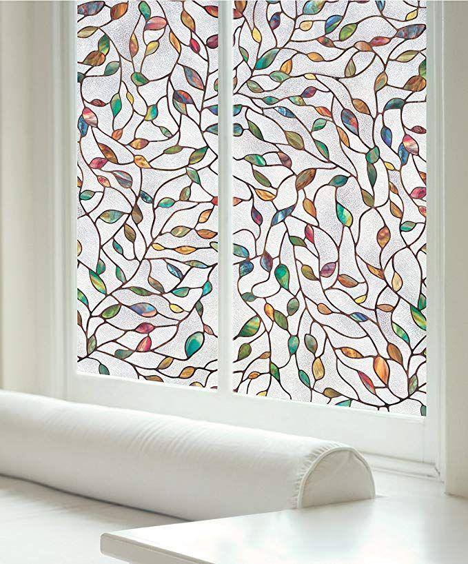 Artscape New Leaf Window Film 24 X 36 Stained Glass Window