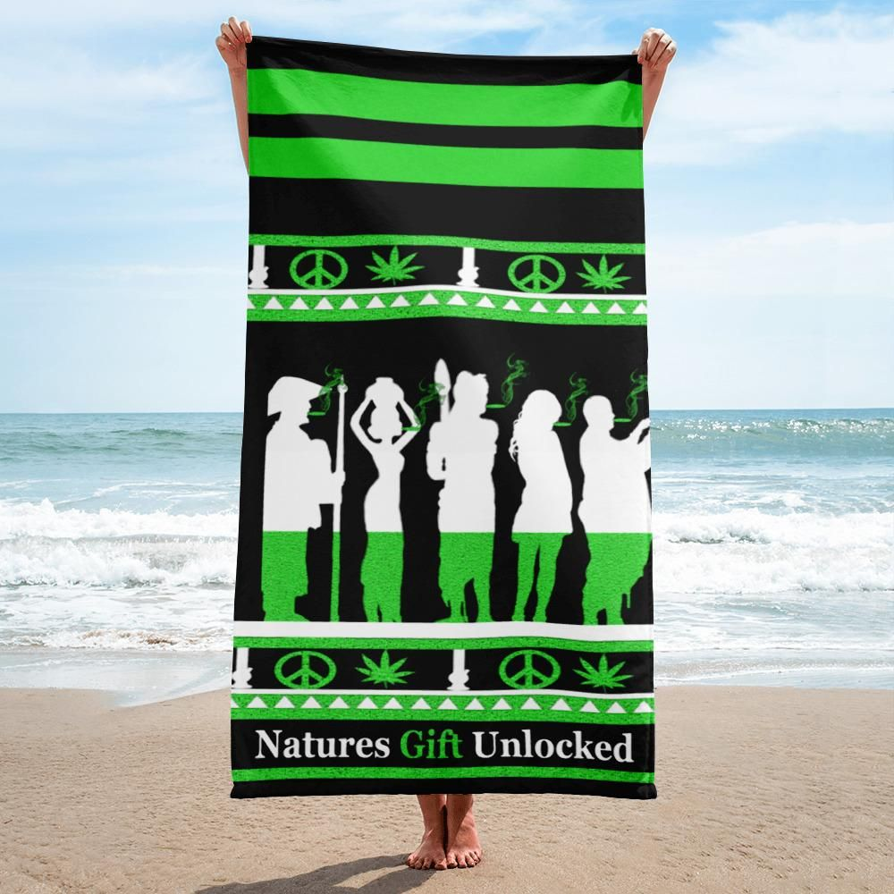 Pin By Ngu On Stoner Gift Ideas Beach Towel Green Towels Green