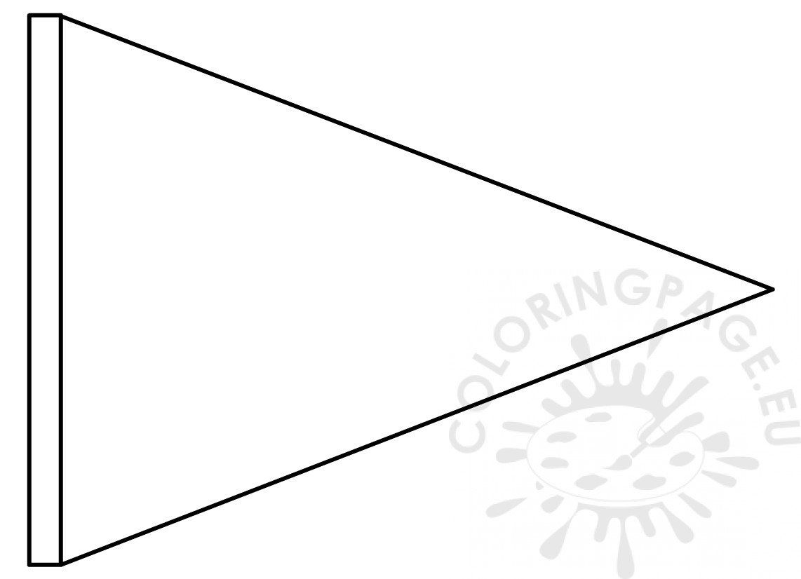 Triangle Flag Banner Template Coloring Page With Triangle Pennant Banner Template Best Sample Temp Pennant Banner Template Banner Template Triangle Pennant