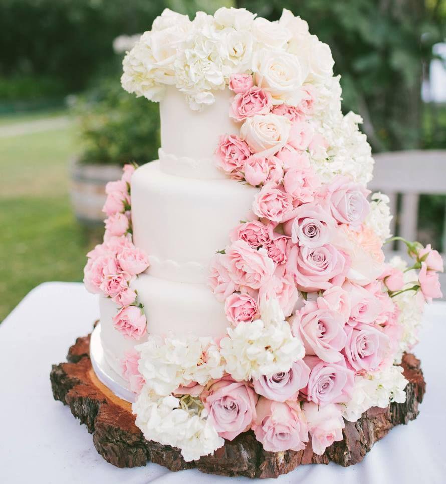 Pink Flower Wedding Cake 9 122113