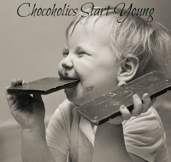 Finally An Excuse To Be A Chocoholic Happy National Milk Chocolate Day Chocoholics Anonymous Funny Photography Cute Kids Photography Children Photography