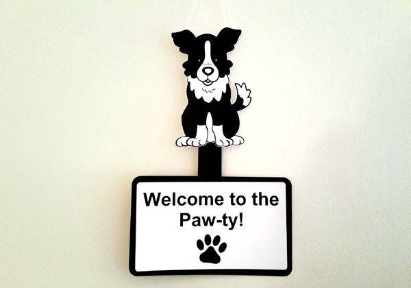 Dog Door Sign Dog Wall Hanger Dog Birthday Puppy Door Sign