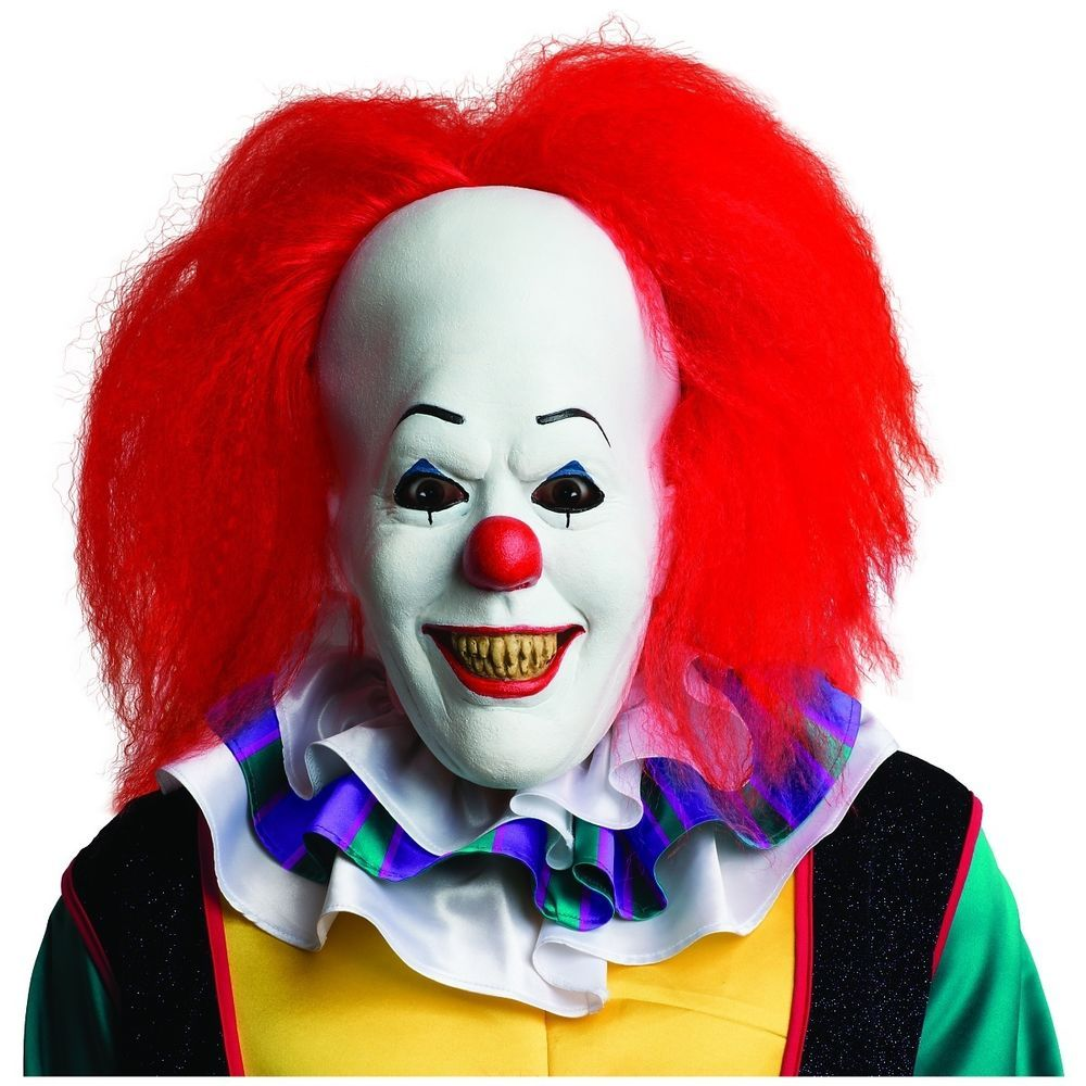 Rubies Costume Mens It Pennywise Adult Mask Multi One Size   Scary ...