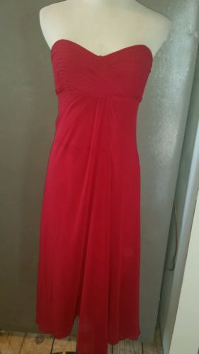 32.66$  Watch now - http://viohw.justgood.pw/vig/item.php?t=fld2lo13639 - David's Bridal size 8 style 12284 red strapless knee length dress