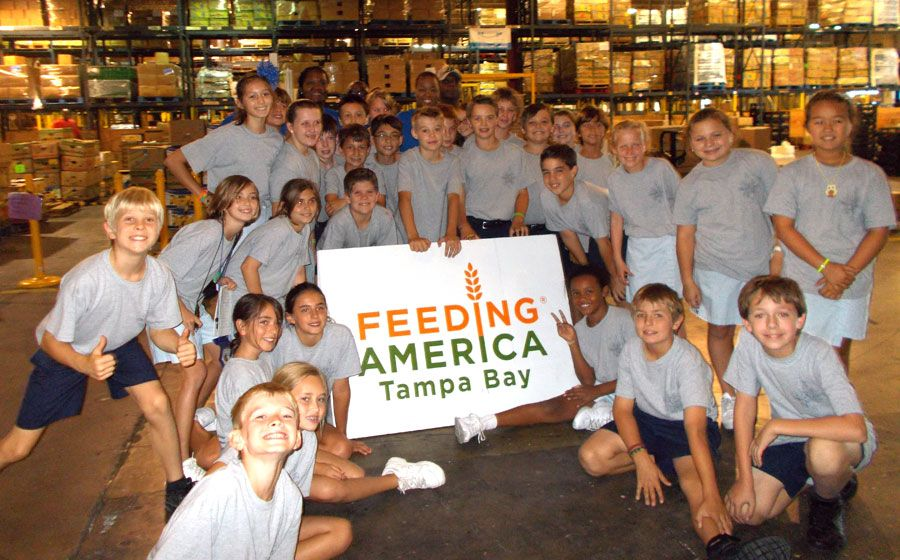 Middle division students assisted in sorting and providing 7,293 meals with Feeding America, Tampa Bay! #community service #berkeleyprep