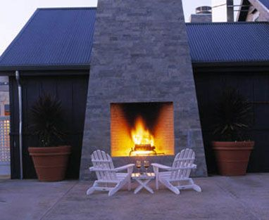 Love The Outdoor Fireplace As An Alternative To A Fire Pit