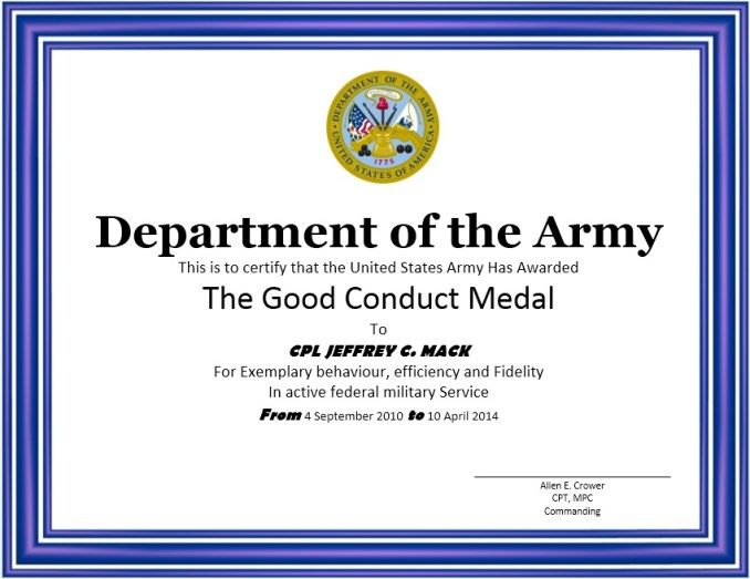 Good conduct certificate stationary templates pinterest good conduct certificate maxwellsz