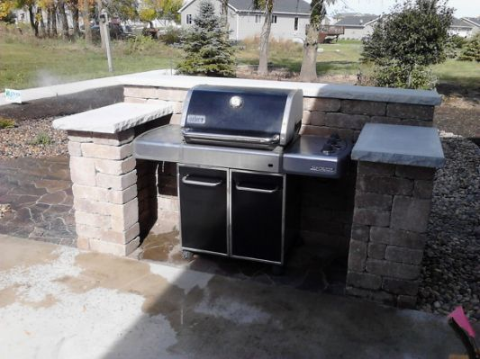 Grill Surround Lakeland Sante Fe   Outdoor grill area ... on Diy Patio Grill Island id=93308