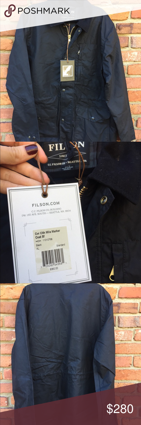 1881ac3fb NWT Filson Cover Cloth Mile Marker Coat men XL NEW Filson Cover ...
