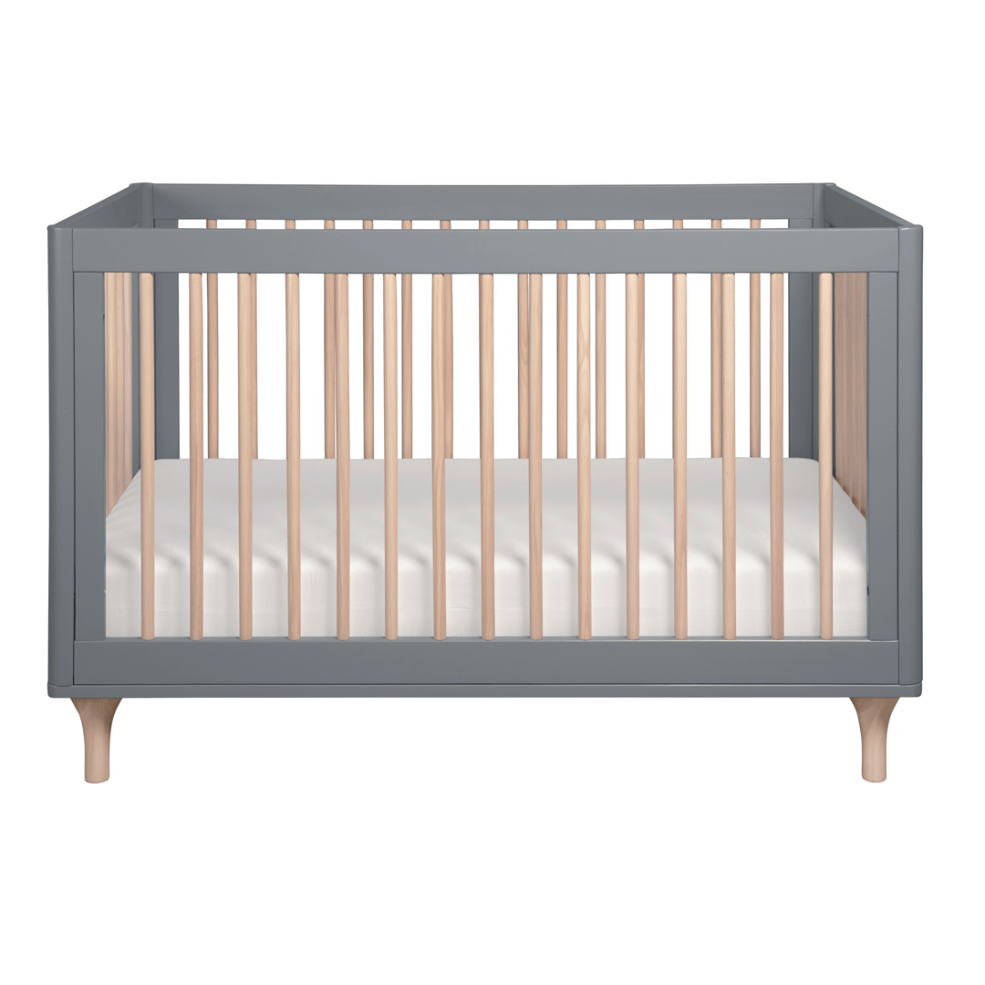 Lolly 3 In 1 Convertible Crib With Toddler Bed Conversion Kit In