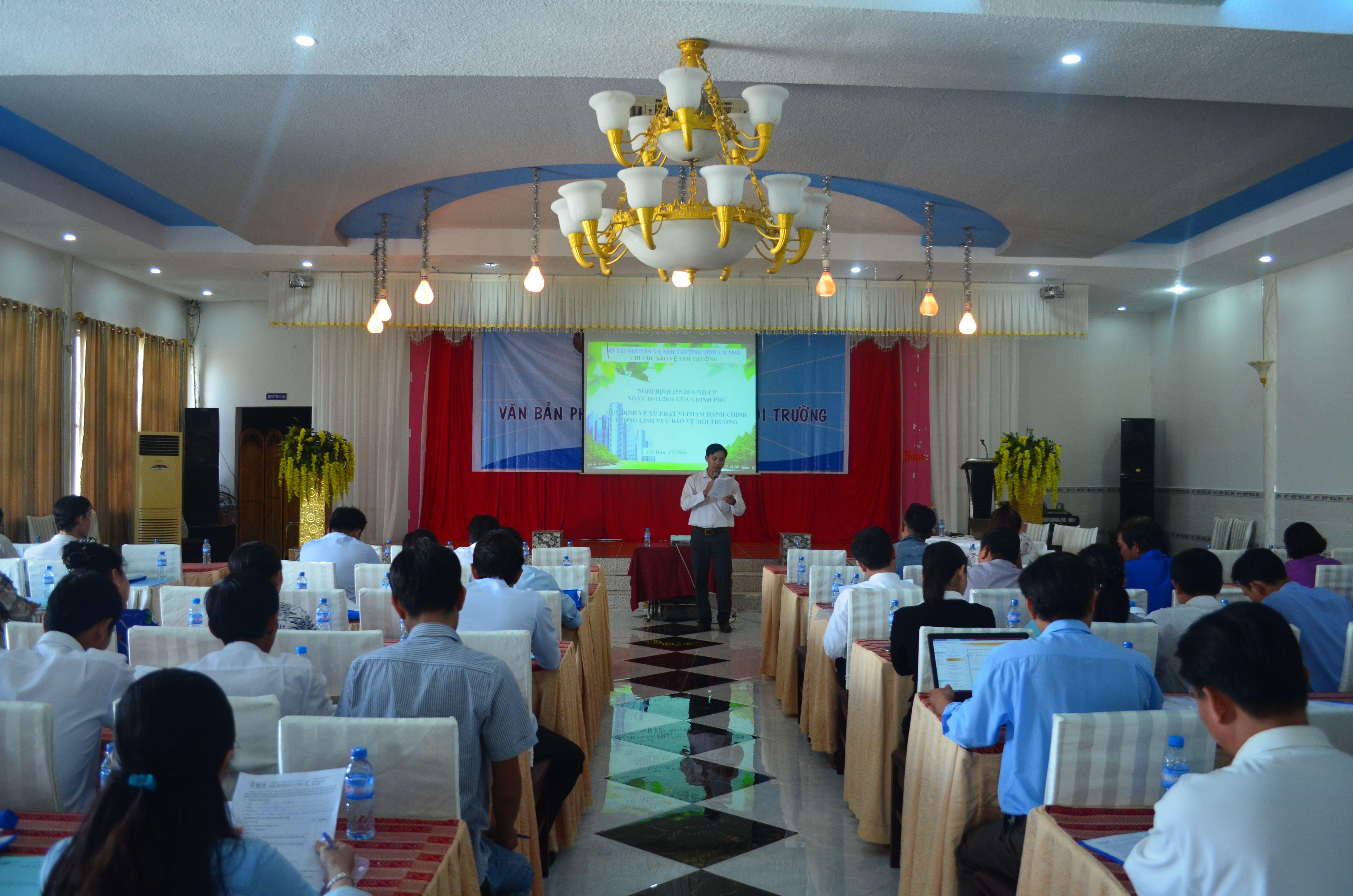 Toàn cảnh buổi tập huấn tại tỉnh Cà Mau