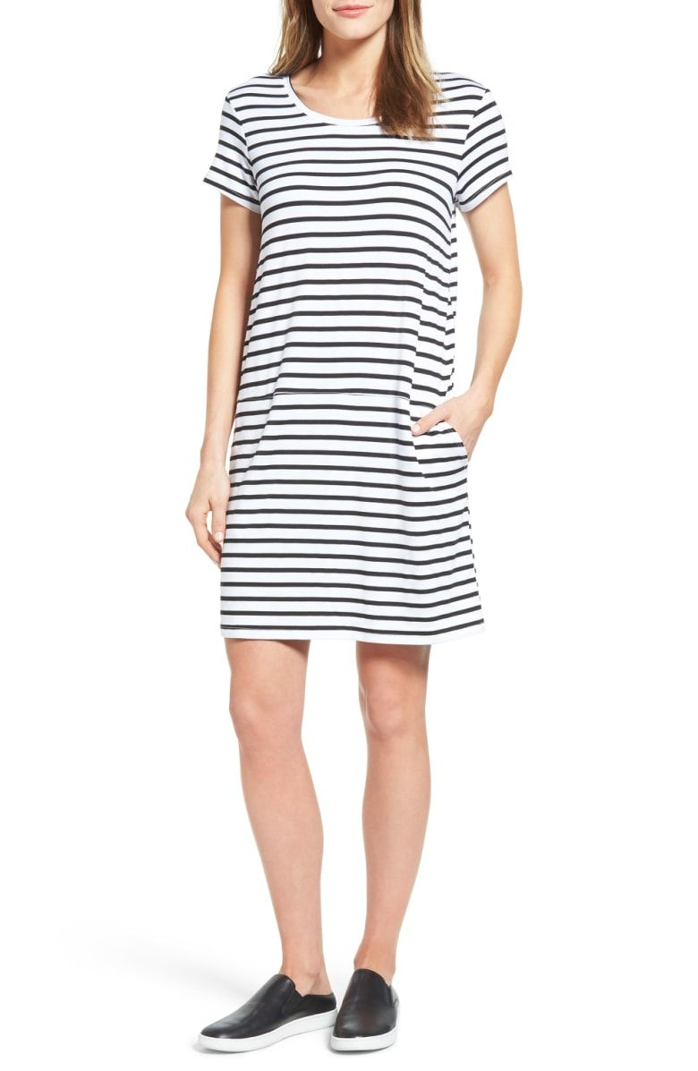 ffd22e9b035 Free shipping and returns on Caslon® Knit Shift Dress (Regular   Petite) at  Nordstrom.com. Stroll the boardwalk (or just channel that carefree feeling)  in ...