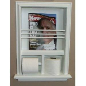 picture of bathroom with magazine holder in wall | Built ...