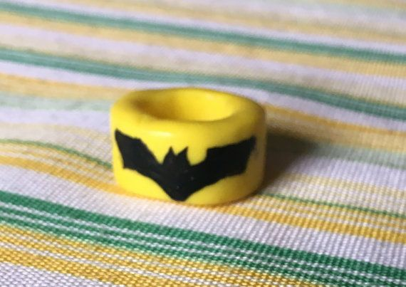 Superhero inspired Batman Dread Bead Dreadlock by TheWildDreadBead