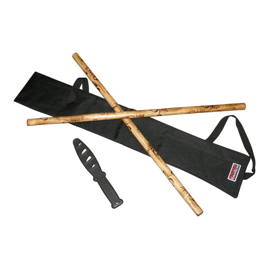 "2 Filipino Escrima Kali Arnis SPIRAL Burn Rattan Sticks 28/"" x 7//8/"" stickfighting"
