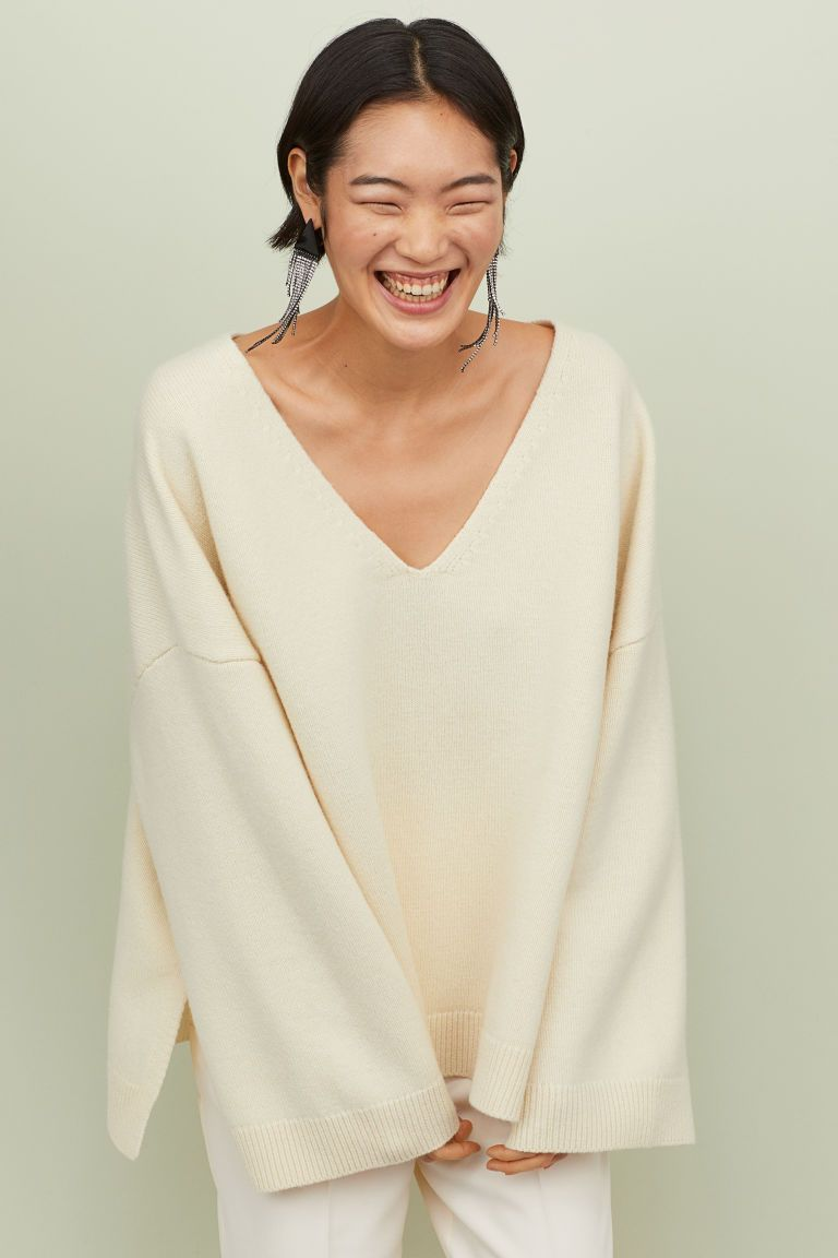 Oversized Wollen Trui.Oversized Wollen Trui H M White Oversized Sweater Wool Sweaters