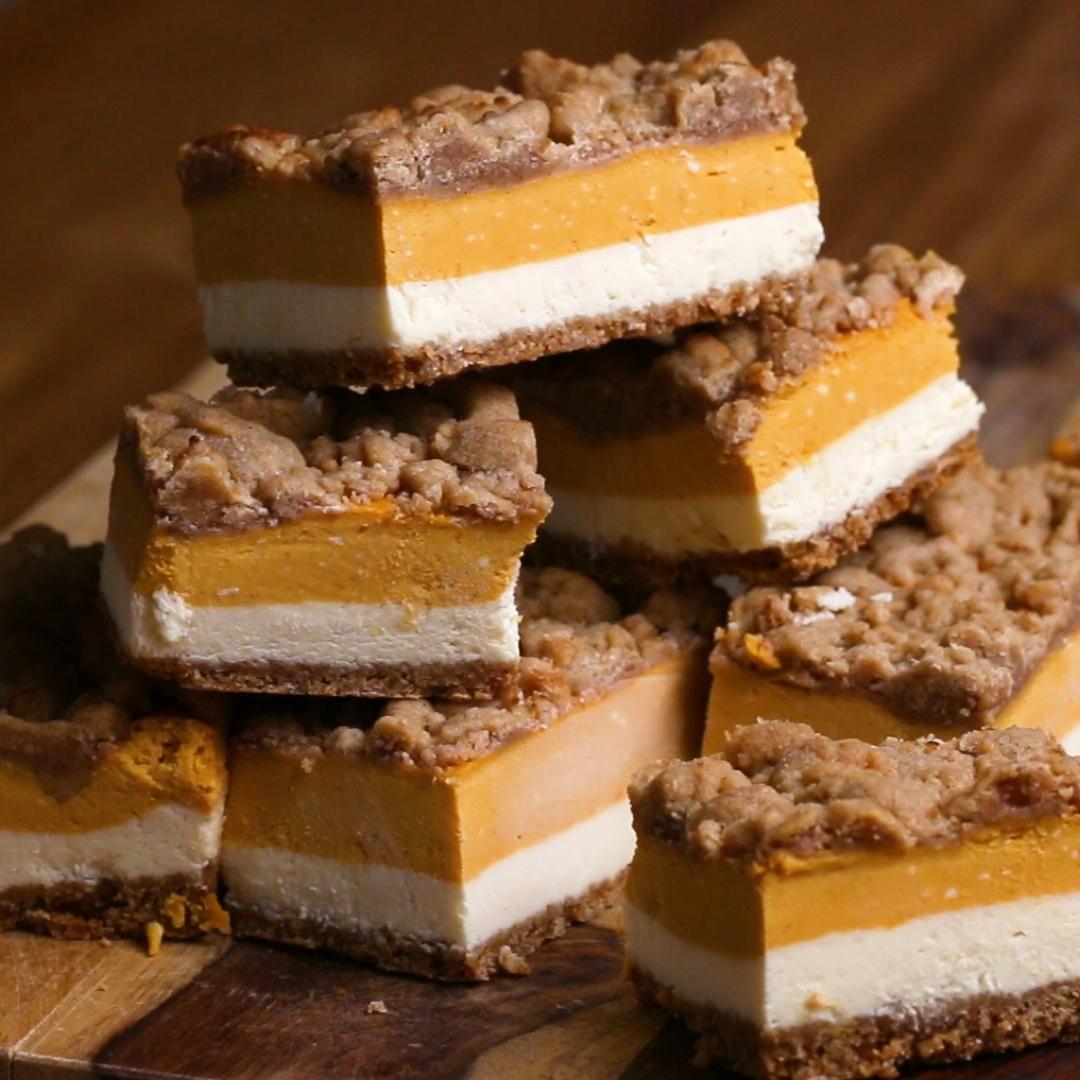 Pumpkin Cheesecake Bars Recipe by Tasty Pumpkin Ch