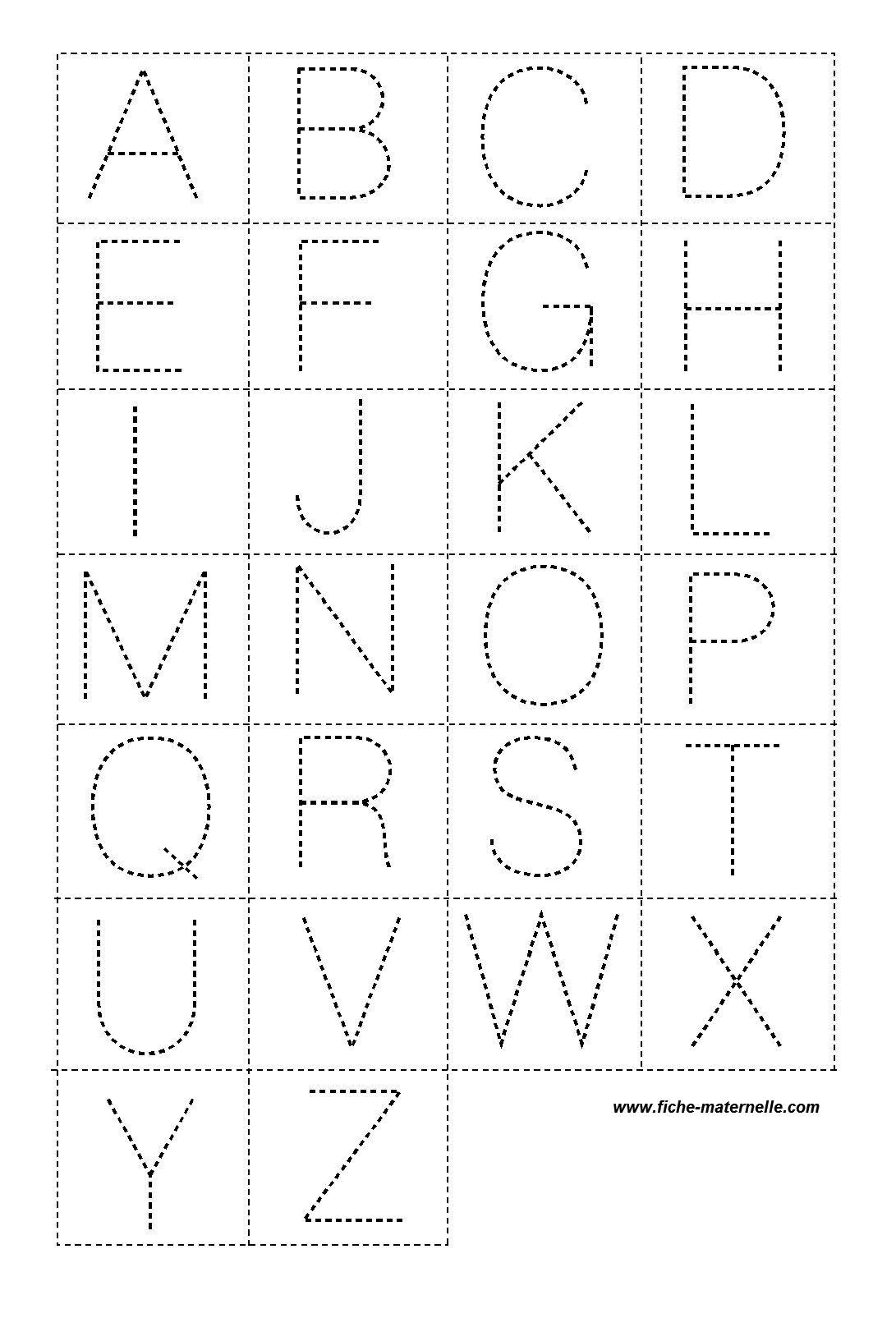 Exceptionnel Lettres en pointillé pour la classe | Buchstawen | Pinterest | La  AK71
