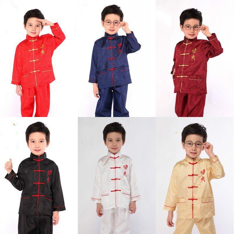 490f4f552b New Arrival Children Kung Fu Costume Boy Chinese Folk Costume Top+ ...