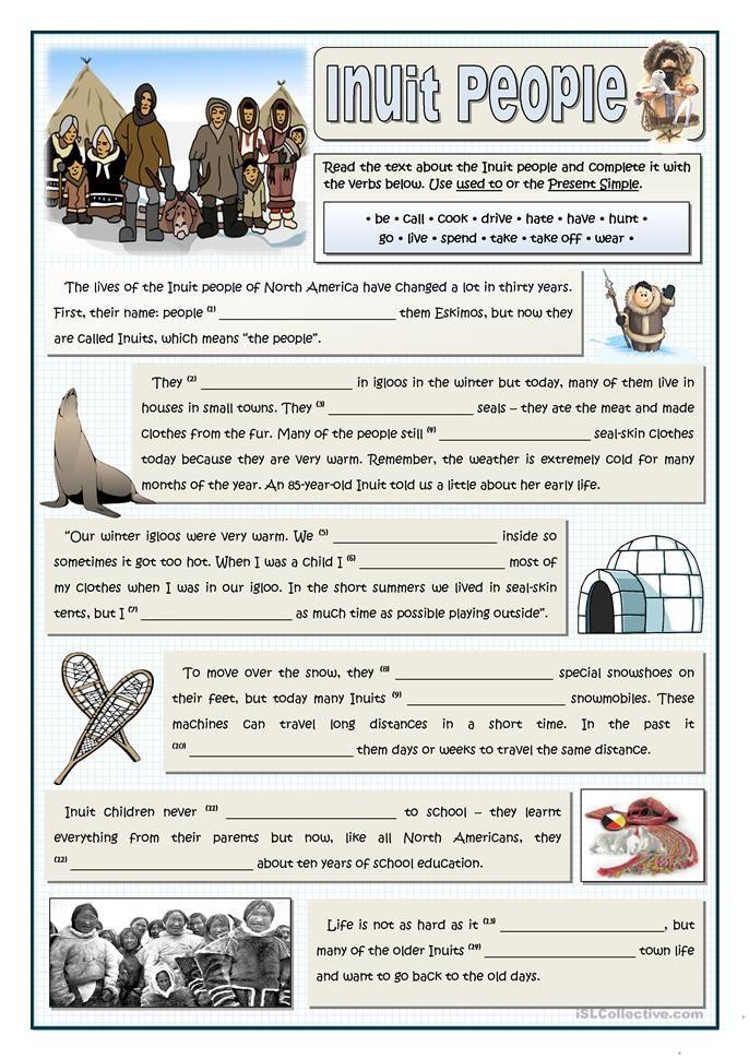 Ausgezeichnet Inuit Arbeitsblätter Für Kinder Zeitgenössisch ...