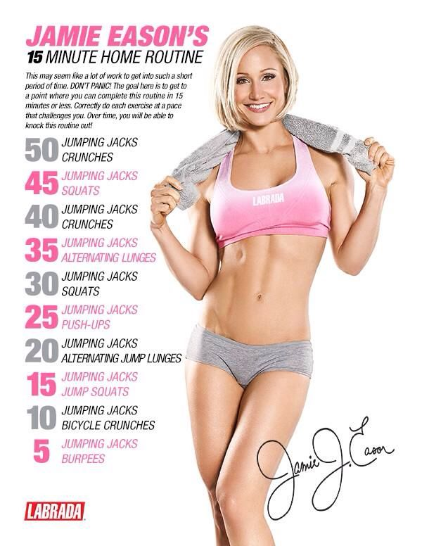 Cardio day 15 minute jamie eason home workout feel the burn pinterest cardio workout and - Jamie en 15 minutes ...