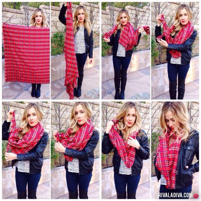 Diy Blanket Scarf Tutorial 55 X 55 Flannel Cloth Fray