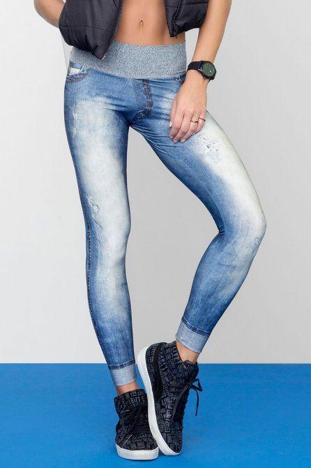 Calça Legging Athletic Denim  • LIVE! • #shoponline #fitness #legging #jeans