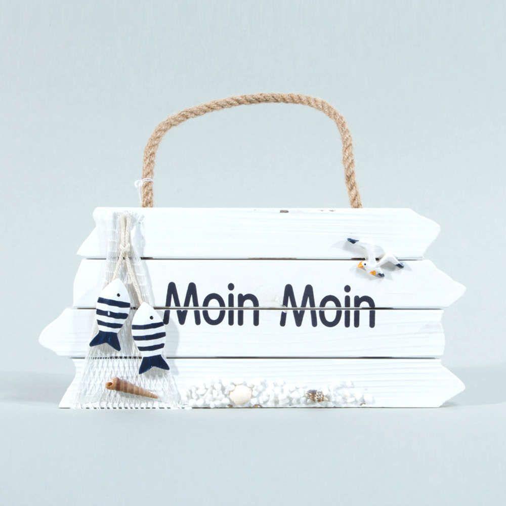 moin moin holzschild für die maritime deko zuhause >> | maritime, Wohnzimmer dekoo