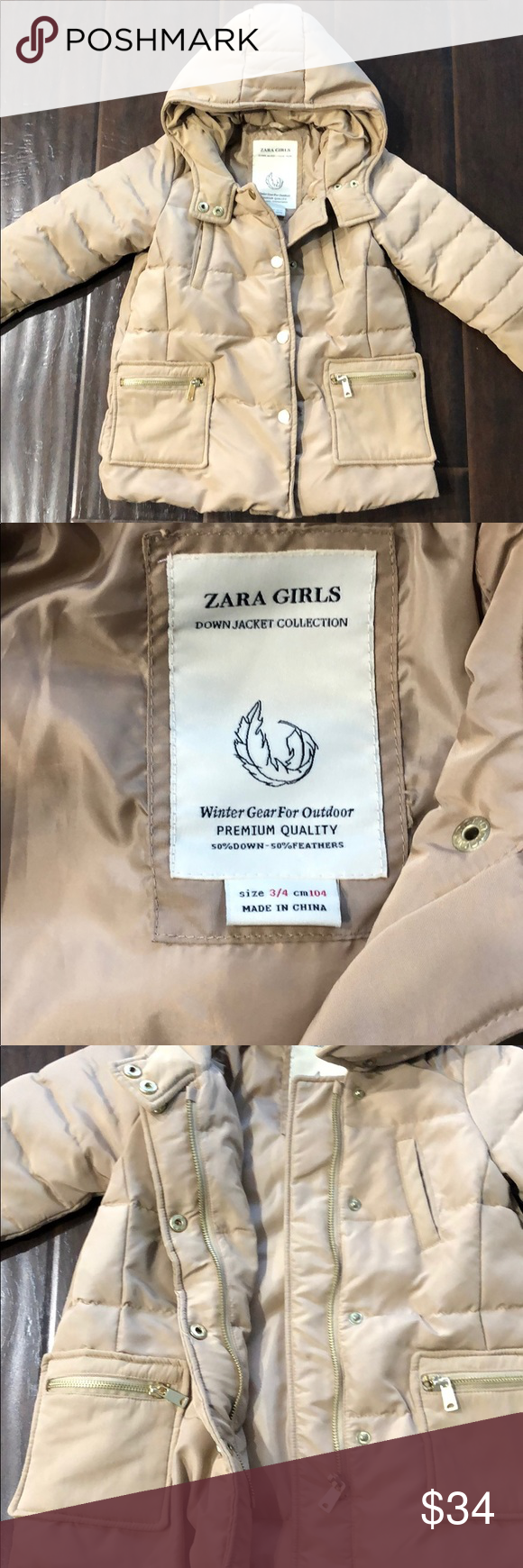 Zara Girls Down Puffer Jacket Zara Girl Jackets Zara [ 1740 x 580 Pixel ]