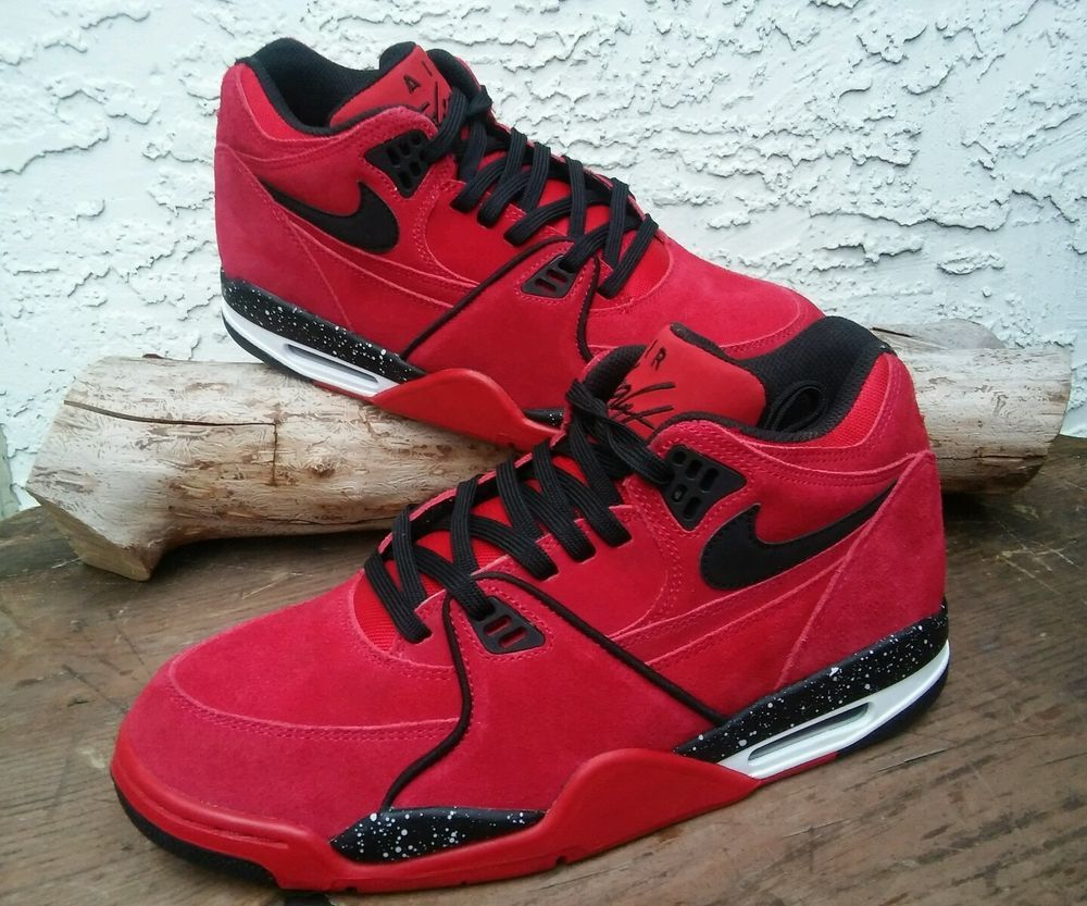 big sale 4dd3e f30e7 306252-600 Men s Sz 10 Nike Air Flight 89 Gym Red Black White New In Box   Nike  BasketballShoes