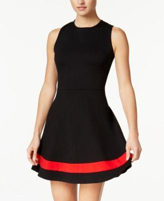 ea4018dc1f B Darlin Juniors  Open-Back Fit   Flare Dress