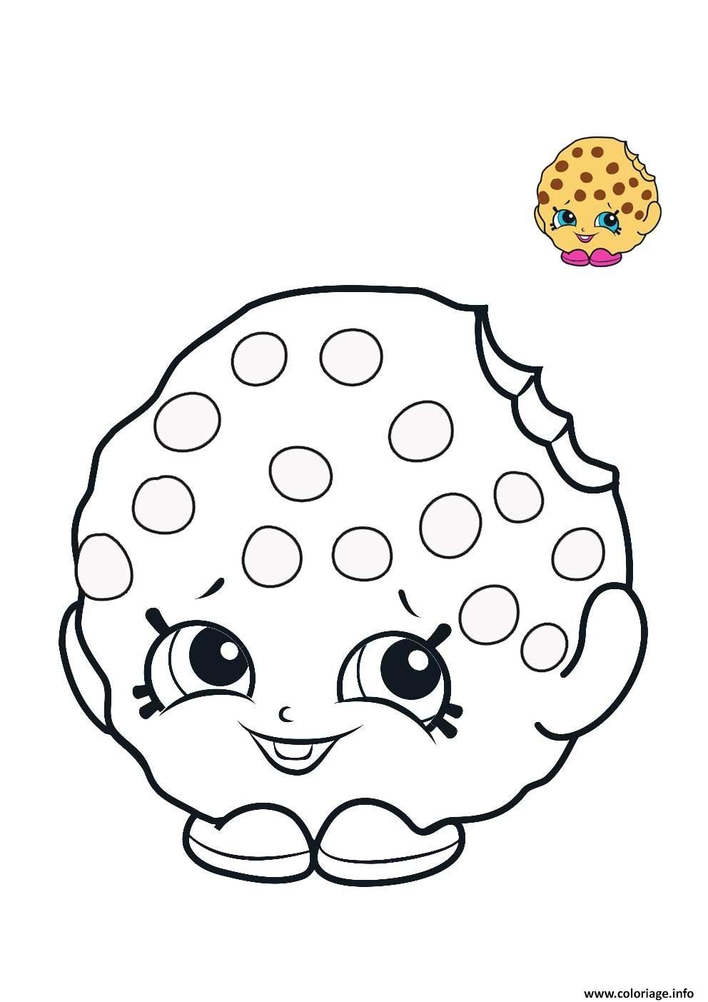 Coloriage Shopkins Cookie Biscuit A Imprimer Con Imagenes