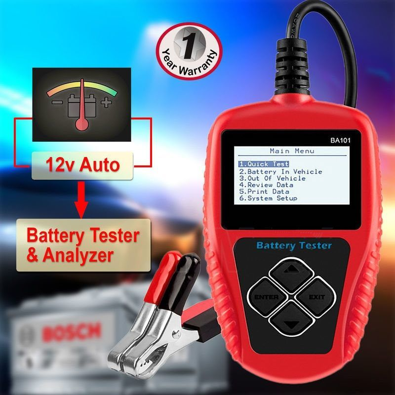 Auto Car Battery Tester & Analyzer Tool 12V LCD in 2020