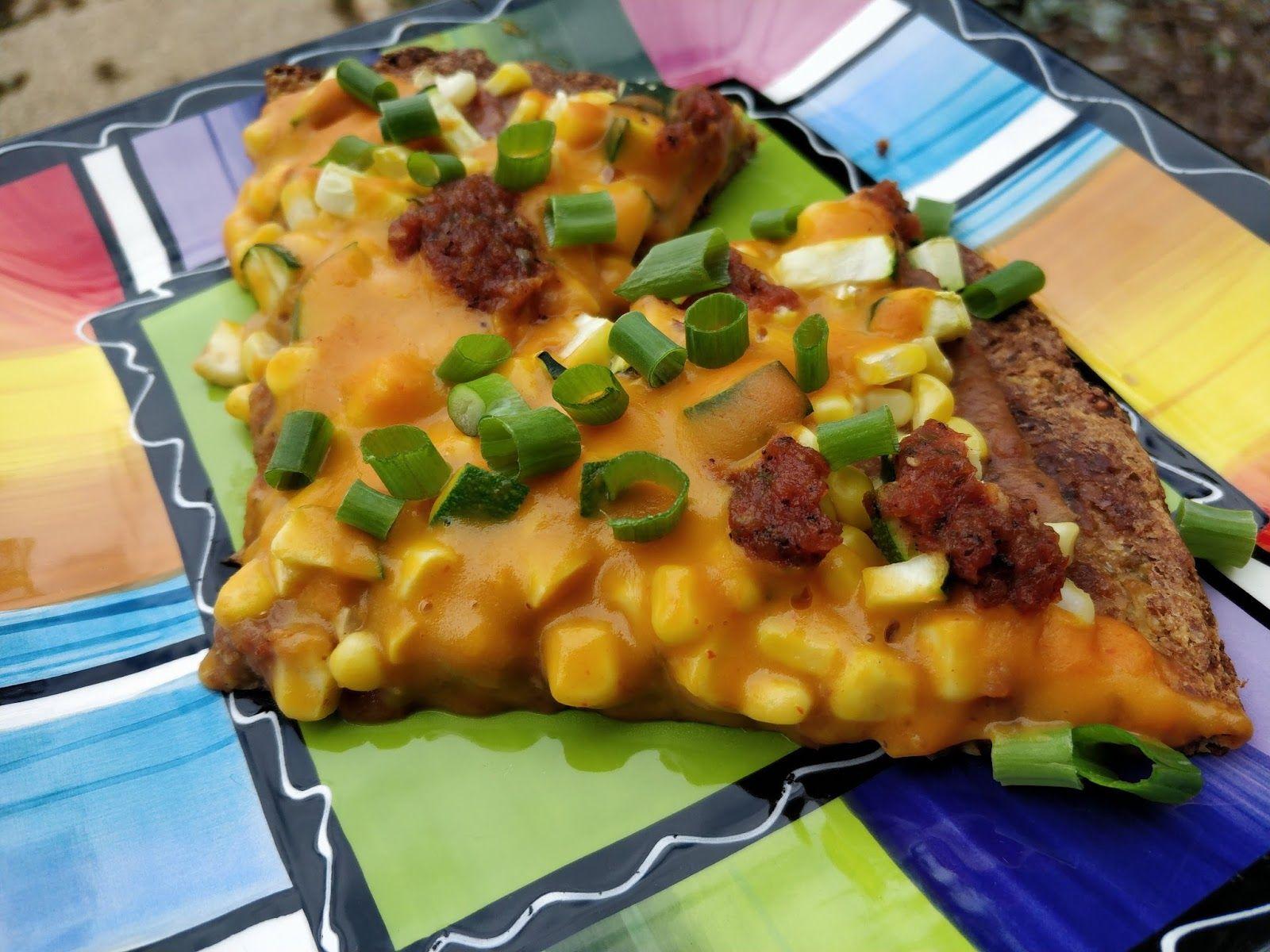 I found a recipe for a cauliflower pizza crust that was ...