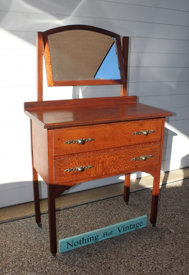 For sale antique silky oak dressing table mirror 250 for Local furniture for sale