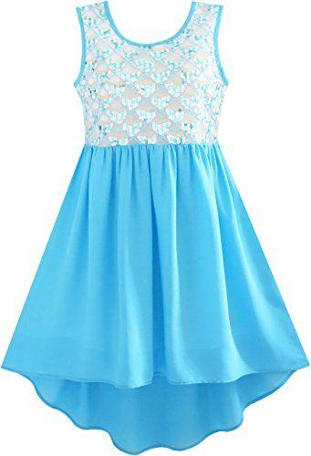 Mädchen Kleid Funkeln Hallo-lo Chiffon Kleiden Prinzessin... https ...