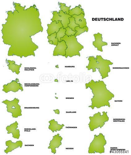Vektor Deutschland Und Bundeslander Deutschland Bundesland