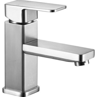 Photo of ANZZI Key Series single-hole, single lever brushed nickel bathroom tap L-AZ097BN – The Home Depot