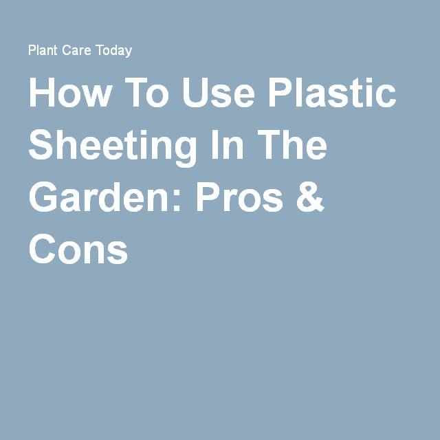Garden Plastic Sheeting Garden Plant Care Plastic