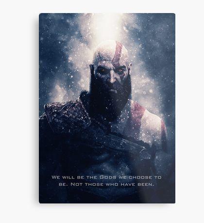 God of War - Kratos Metal Print | Displate thumbnail