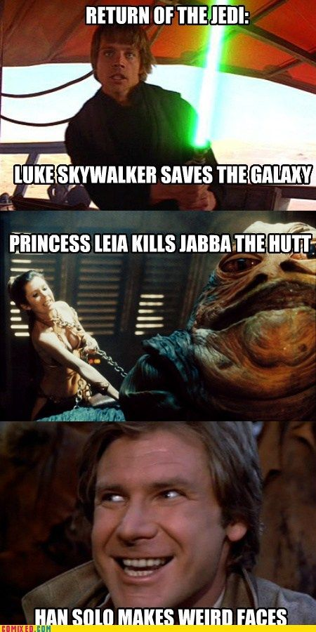 Return Of The Jedi Summary Star Wars Humor Star Wars Memes Funny Star Wars Memes