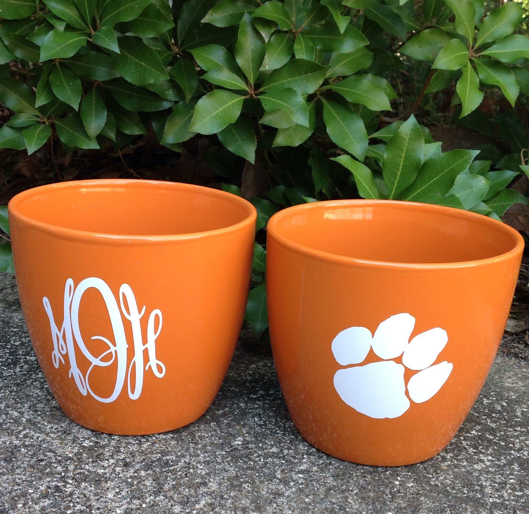 personalized flower pots$8 ea. find me on facebook at petal