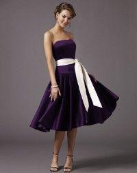 purple bridesmaid dresses | Deep Purple Bridesmaid Dress & White ...